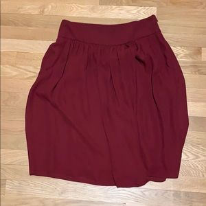 Red Ann Taylor skirt